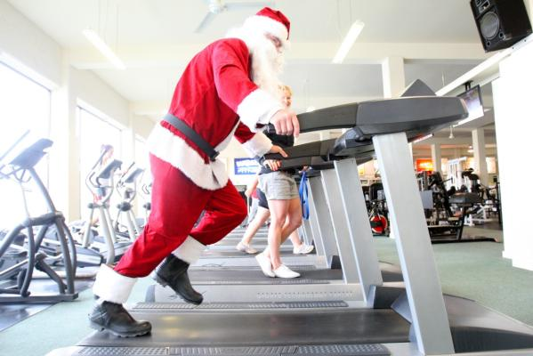 2012 Santa working out