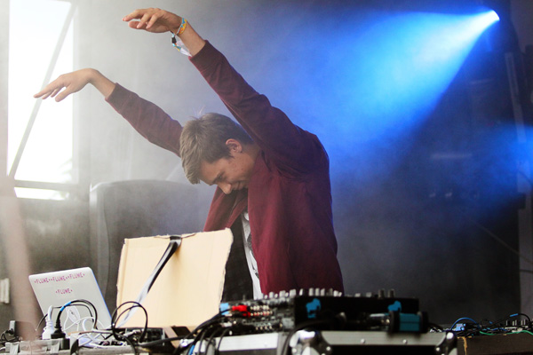 Flume performing at Rhythm and Alps