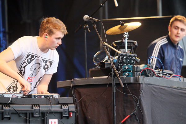 Brothers Guy (left) and Howard Lawrence from London, Disclosure, perform at Rhythm and Alps