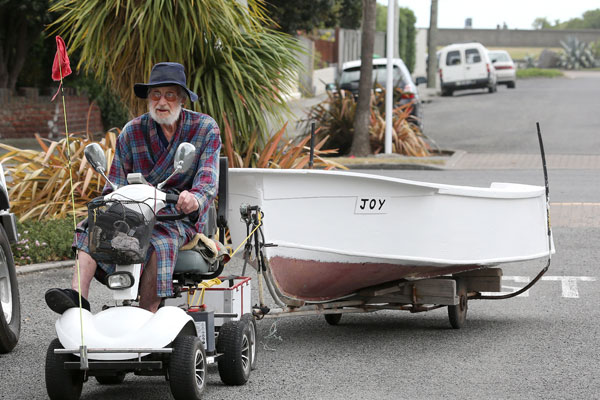 Eric Johnson is a familiar sight in Sumner where he launches his boat.