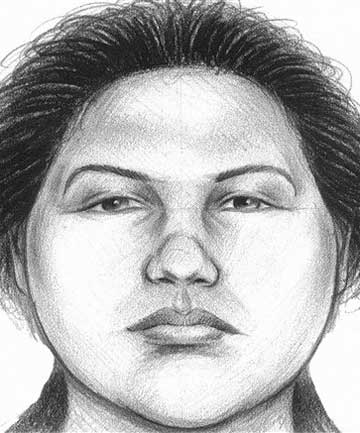 A New York City Police Department composite sketch of  the woman believed to have pushed a man to his death in front of a subway train in New York.