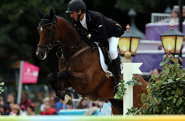 COMEBACK KNIGHT: Sir Mark Todd on his mount Campino during the London Olympic Games