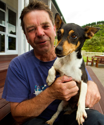 Philip Norquay with his dog Jazz