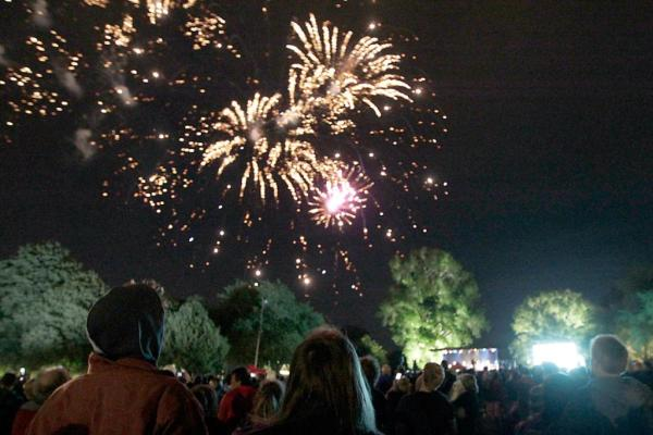 Thousands came to see the fireworks in Christchurch.