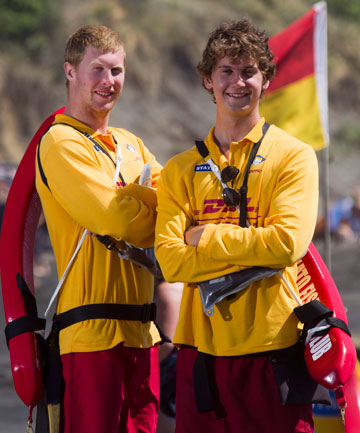 Sunset beach lifeguards Shane and Mark Edwards