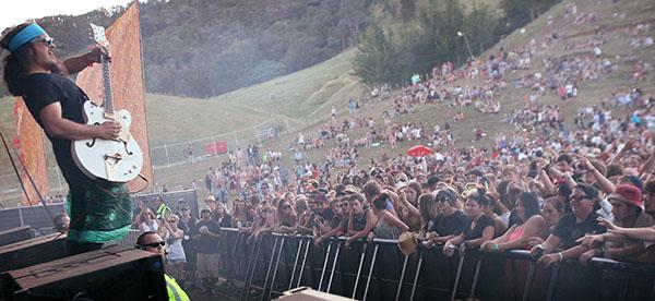 IN THE SWING: About 10,000 people saw in the new year at Coromandel Gold festival near Whitianga.