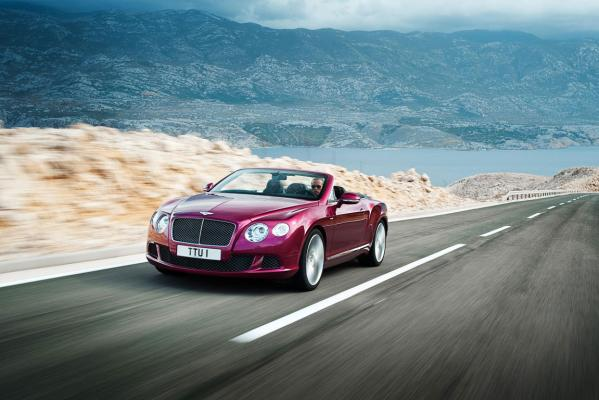 The 2013 Bentley Continental GT Speed.