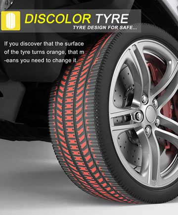 The Discolour Tyre.