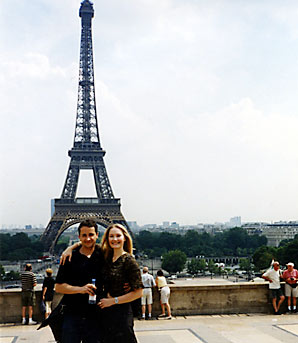 Philip Matthews and Rebecca in Paris