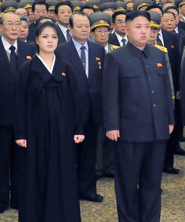 Kim Jung-Un and his wife