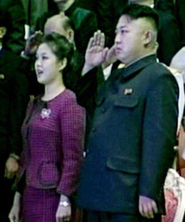 Kim Jung-Un and his wif