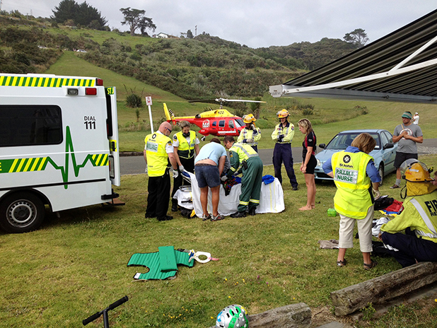 St John paramedics treated the Christchurch boy at the scene before the Westpac Waikato Air Ambulance flew him to Waikato Hospital for further assessment.