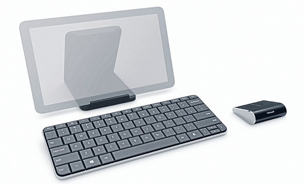 Here now: The Microsoft Wedge Mobile keyboard and the Wedge Touch mouse.