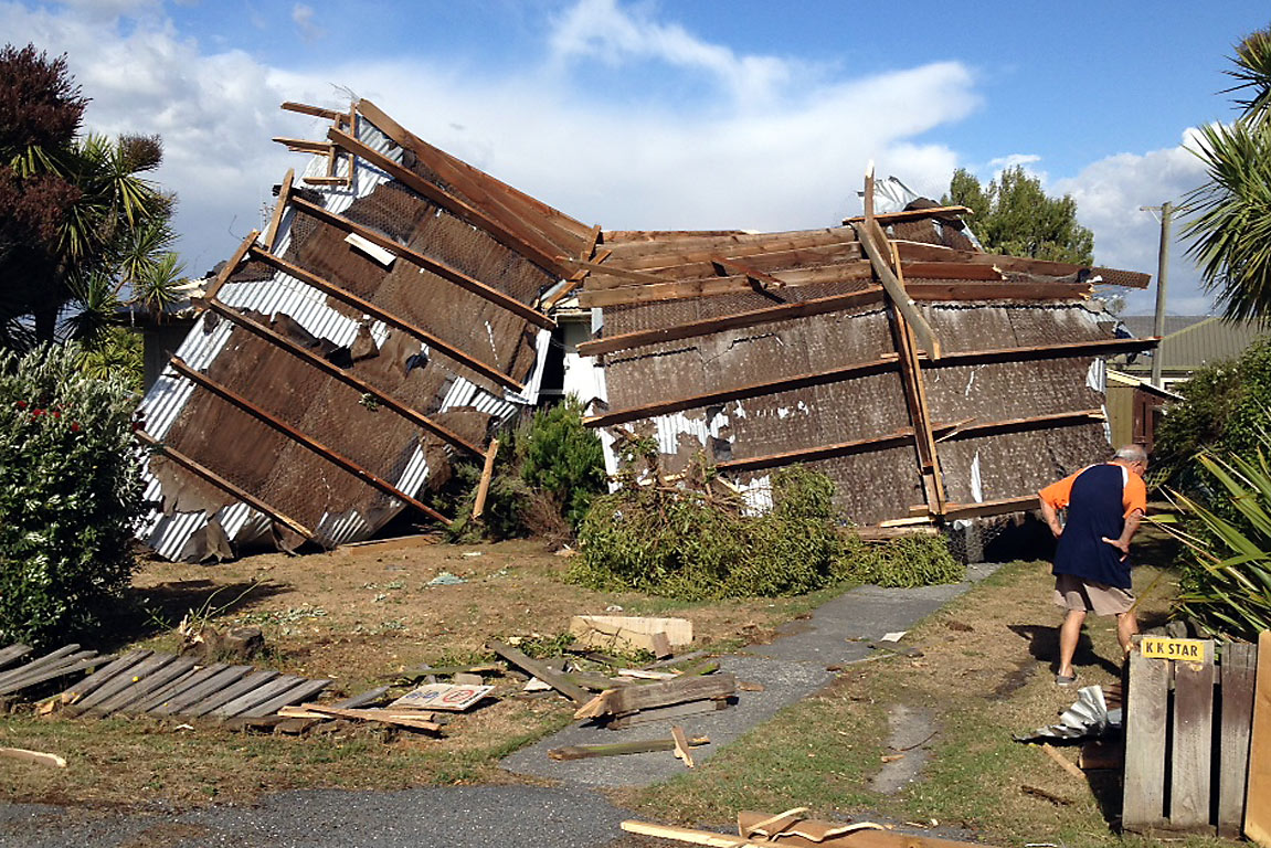 Kaikoura tornado blows off roof