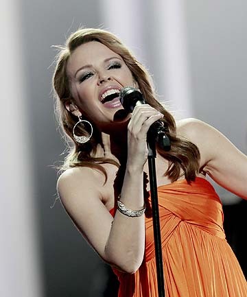 POP STAR: Kylie Minogue performs on stage during the Nobel Peace Prize Concert in Oslo last year.