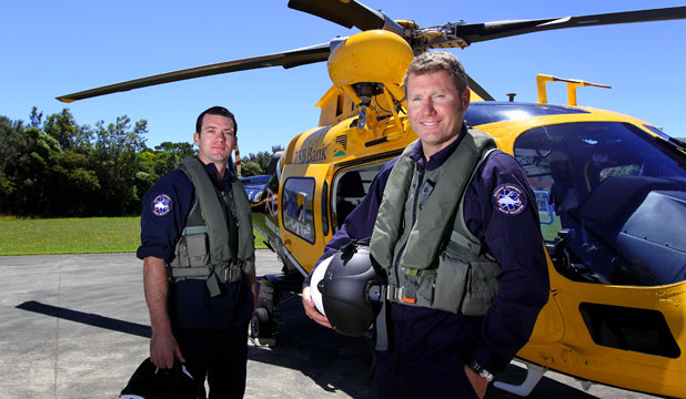 Mike Parker and Stephen Beck are the Taranaki Rescue Helicopter's new pilots.