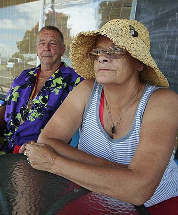 WORRIED RESIDENTS: Kawhia locals Karl-Heinz Koehler, left, and Leigh Baillie don't want to l