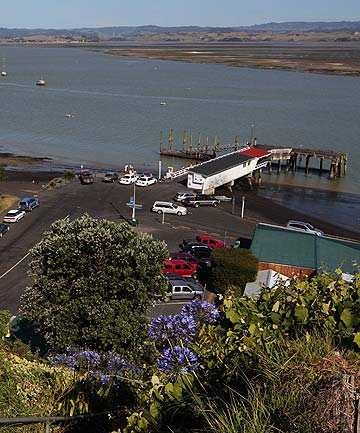 COMMUNITY OUTRAGE: Kawhia's wharf, where Constable Perry Griffin was attacked on Friday night.