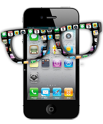 iPhone hipster