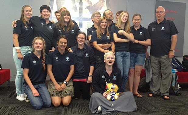 The group from Tauranga's Bethlehem College who travelled to Kenya. Caitlin Dickson (front, centre) and Dr Brian and Grace Johnston (back row, centre) were killed in a minivan cra