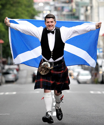 Dave Smith and his Scottish cronies will be painting the town blue on Burns Night