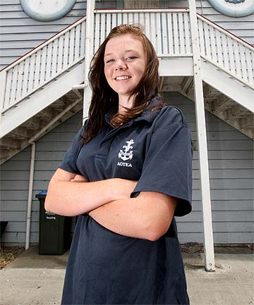 EPIC EFFORT: Onehunga Sea Scout Sabrina Parsons, 15, rescued a man struggling in surf in Matauri Bay, Northland.