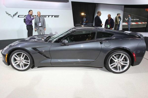 The 2014 Chevrolet Corvette Stingray at the Detroit auto