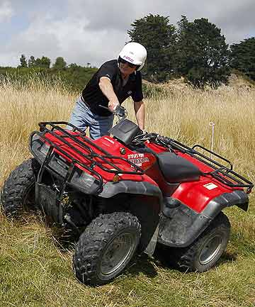 Quad bikes can be difficult to handle in steep terrain.