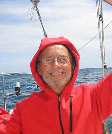 PLUCKED FROM HIS RAFT: Solo around-the-world sailor Alain Delord.
