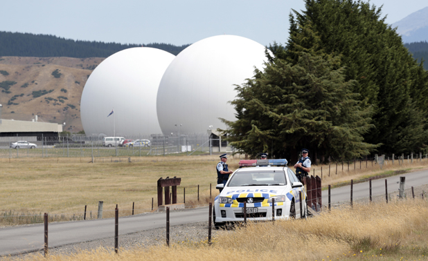 Waihopai spy base protest