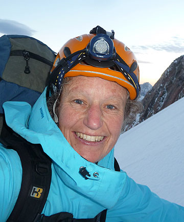 OVERCOMING FEAR: Sarah Wilson, climbing Mt Cook as part of her Cook to Cook challenge.