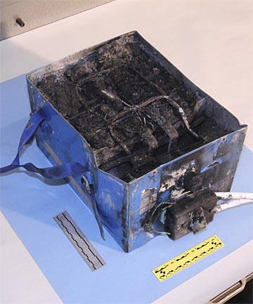 burnt Dreamliner battery