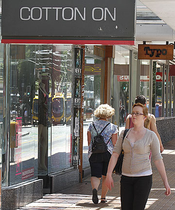 BARGAINING POWER: Cotton On's collection of stores in Manners St, Wellington.