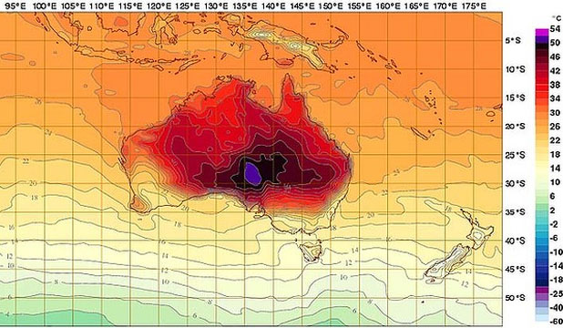 Australia weather map