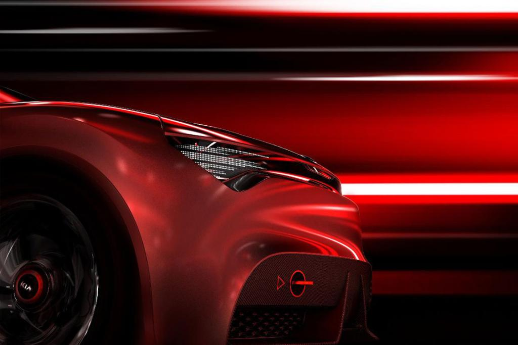 Kia's concept tease for the Geneva Auto Show.
