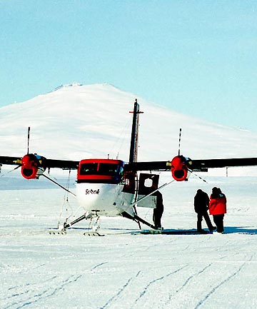 OTTER: A file picture of a Twin Otter at the glacier landing strip at Terra Nova Bay, Antarctica.