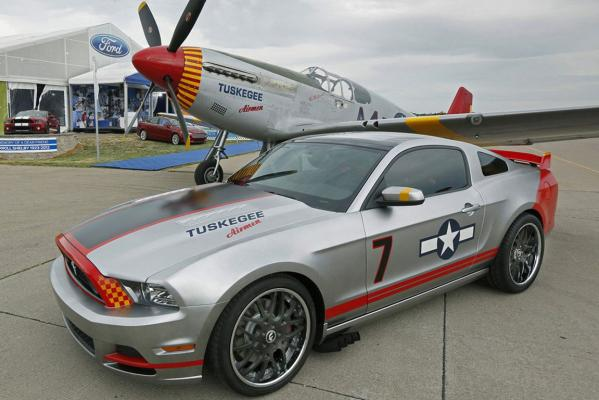 A Red Tails Mustang.