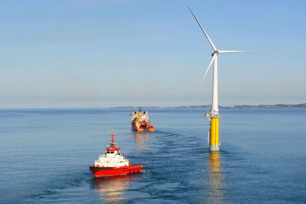 Hywind floating windmill