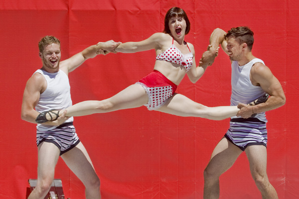 Acrobatica performs at the World Buskers Festival.