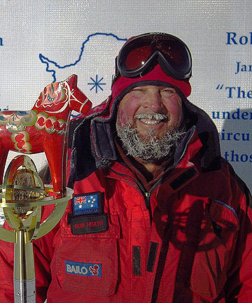 Rescuers in Antarctica have located the wreckage of a plane piloted by Canadian extreme polar pilot Bob Heath.