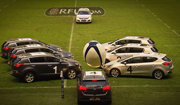Car rugby lineout