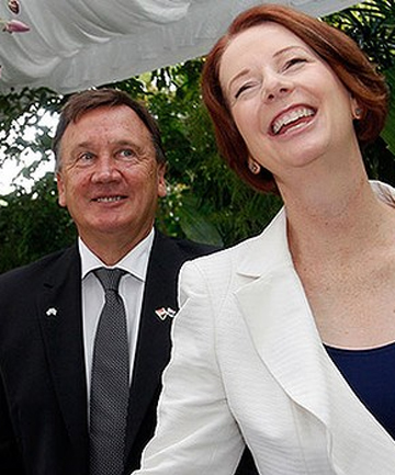 Julia Gillard and Tim Mathieson