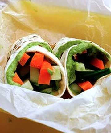 spinach hummus wrap