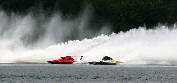 Power boats at Lake Karapiro