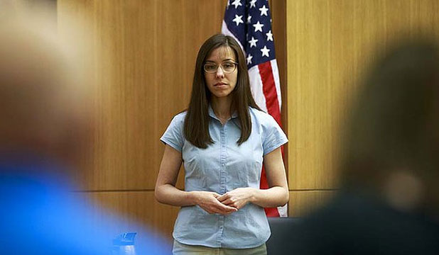 ABUSE CLAIMS: Jodi Arias, 32, is accused of stabbing and slashing Travis Alexander 27 times, slitting his throat and shooting h
