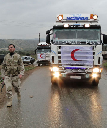 Red Crescent aid