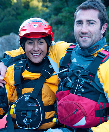 ADVENTURE ON THE WATER: Rafting NZ company directors Pianika and Luke Boddington.