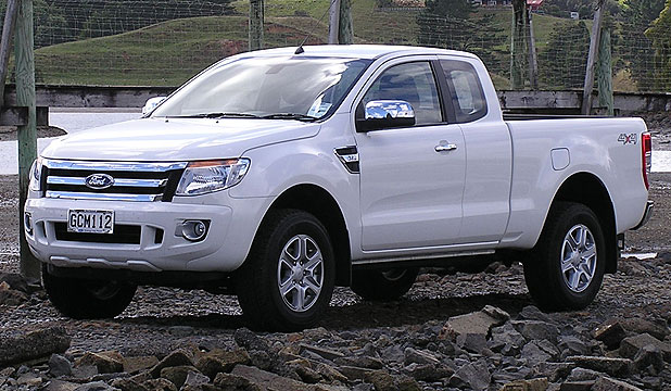 The Ford Ranger XLT Super Cab.