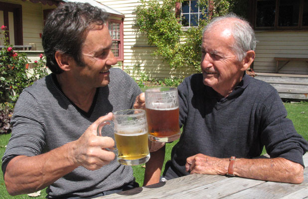 Bill McGavock, 86, of Havelock North, and his son Steve, of Te Awanga