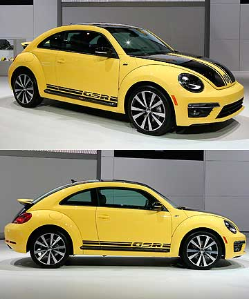 Volkswagen's turbocharged GSR Beetle.
